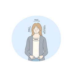 Stress overwork breathe concept vector