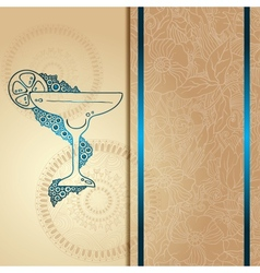 Template card with glass and bubbles vector image