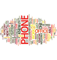 The phone from hell text background word cloud vector