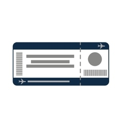 ticket fly isolated icon vector image