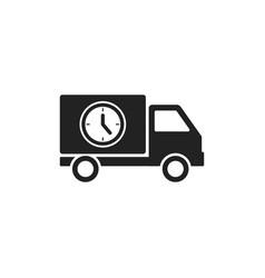 truck icon delivery van service concept vector image