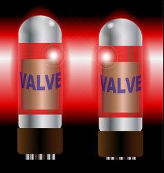 Two hot amplifier valves vector