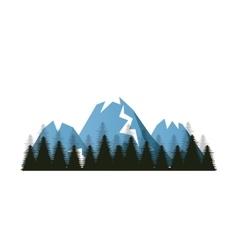 Winter landscape mountains vector