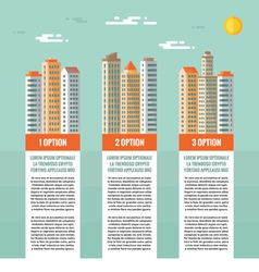 Buildings - infographic concept vector image vector image