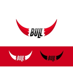 Bull logo design template Flat bull logo sign vector image vector image