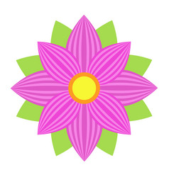 flower astra flat icon easter and holiday vector image vector image
