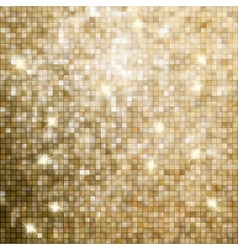 Golden abstract mosaic background EPS 8 vector image