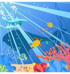 underwater sealife vector image vector image