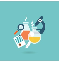 Flat design concept for chemistry vector image vector image