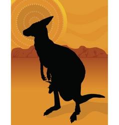 kangaroo outback vector image
