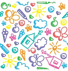 kid pattern vector image vector image