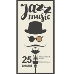 Man face with inscription jazz music vector