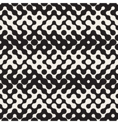 Seamless Black and White Halftone Pattern vector image