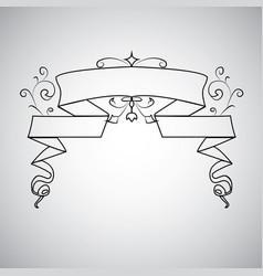 vintage baroque frame scroll ornament engraving vector image