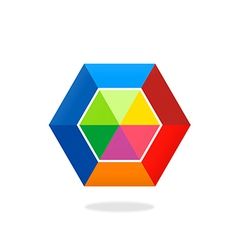 colorful polygon abstract logo vector image vector image