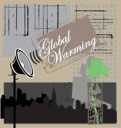 global warning vector image vector image