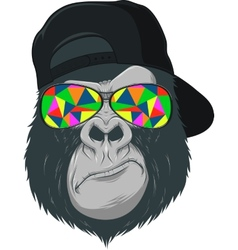 Monkey with glasses vector image vector image