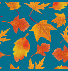 pattern leaves autumn watercolor vector image