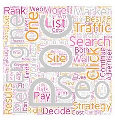 SEO or PPC Which One is Right for You text vector image vector image