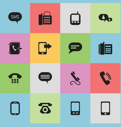 set of 16 editable gadget icons includes symbols vector image
