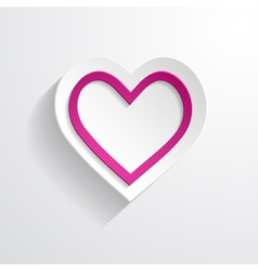 a white paper heart vector image vector image