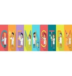 Chemistry banner science alphabet vector