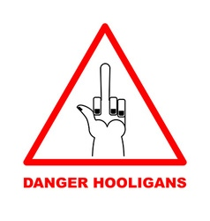 Danger sign Red triangle-road sign Dangerous vector image vector image