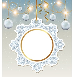 Decorative round Christmas banner vector image vector image