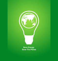 modern graphic of a light bulb with earth globe vector image