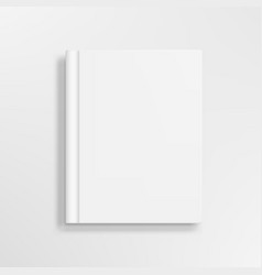 3d closed vertical book magazine or notebook vector image