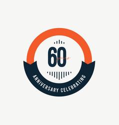 60 th anniversary celebrations retro orange vector