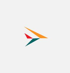 Abstract arrow aircraft logo icon design modern vector