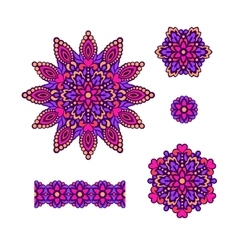 Abstract Flower Patterns Decorative ethnic vector