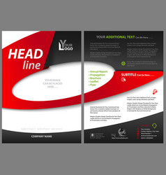 Abstract flyer template with elliptical shapes vector