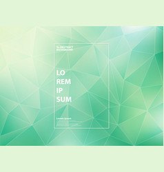abstract modern gradient green mint of low vector image