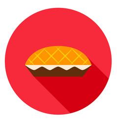Apple pie circle icon vector