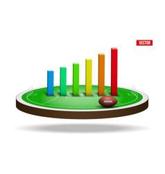 australian rules football field stadium vector image