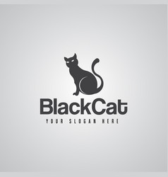 black cat symbols icon concept vector image