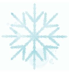 Blue watercolor snowflake vector