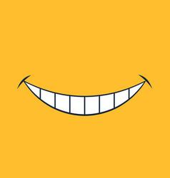 broad smile print design for kids medical face vector image