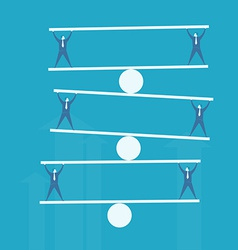 Business man balance beam vector