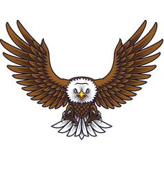 cartoon eagle mascot vector image