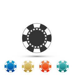 casino chip icon isolated on white background vector image