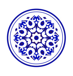 chinese round pattern vector image