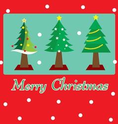 Christmas tree postcard vector image