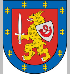 Coat of arms of taurage county in lithuania vector