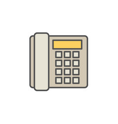 colorful landline phone icon on white vector image