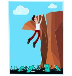 Dangerous cliff vector