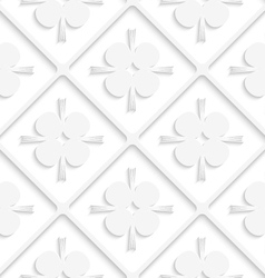 Diagonal white square net and pointy shapes vector