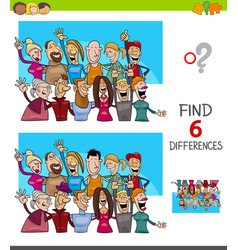differences game with people characters group vector image